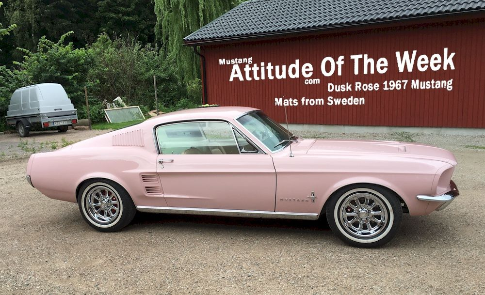 Dusk Rose Pink 1967 Ford Mustang Fastback Mustangattitude Com Mobile Mustang Fastback Ford Mustang Fastback Mustang