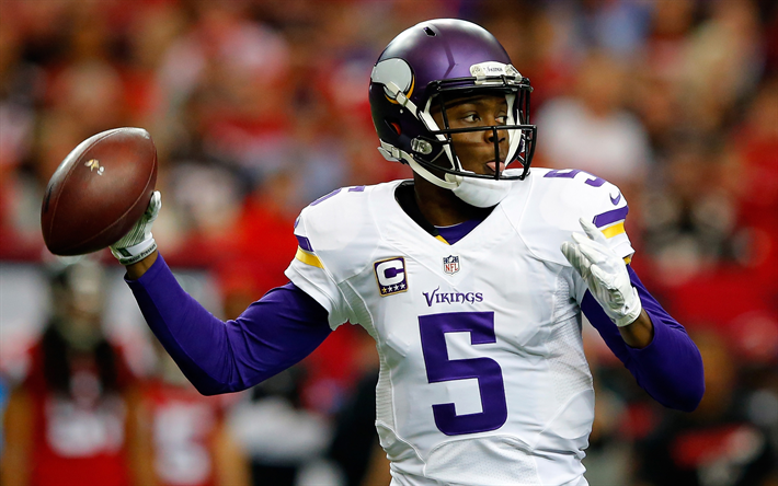 Download wallpapers Teddy Bridgewater, 4k, quarterback