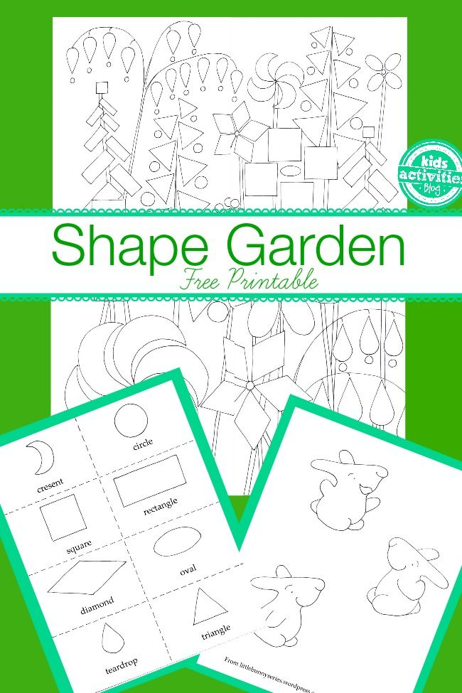 Shape Garden} Kids Free Activity Printables | All Things Kiddos ...