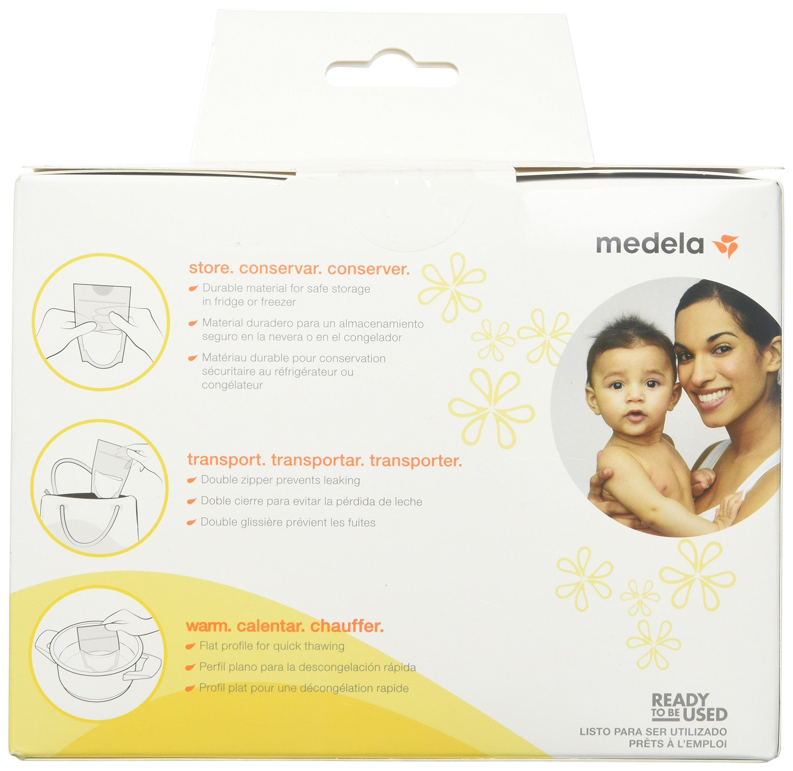 Medela Breast Milk Storage Bags 100 count Ready to Use Milk Storage Bags for ...