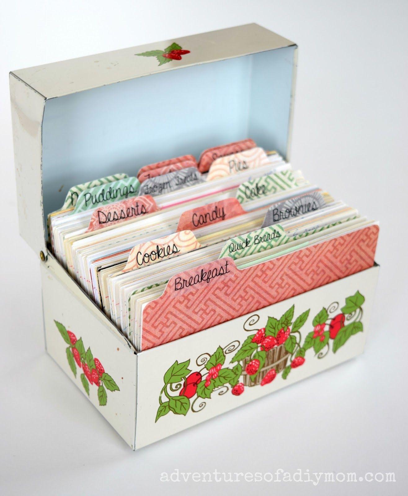 Recipe Dividers Diy Recipe Cards Recipe Box Diy Recipe Card Boxes