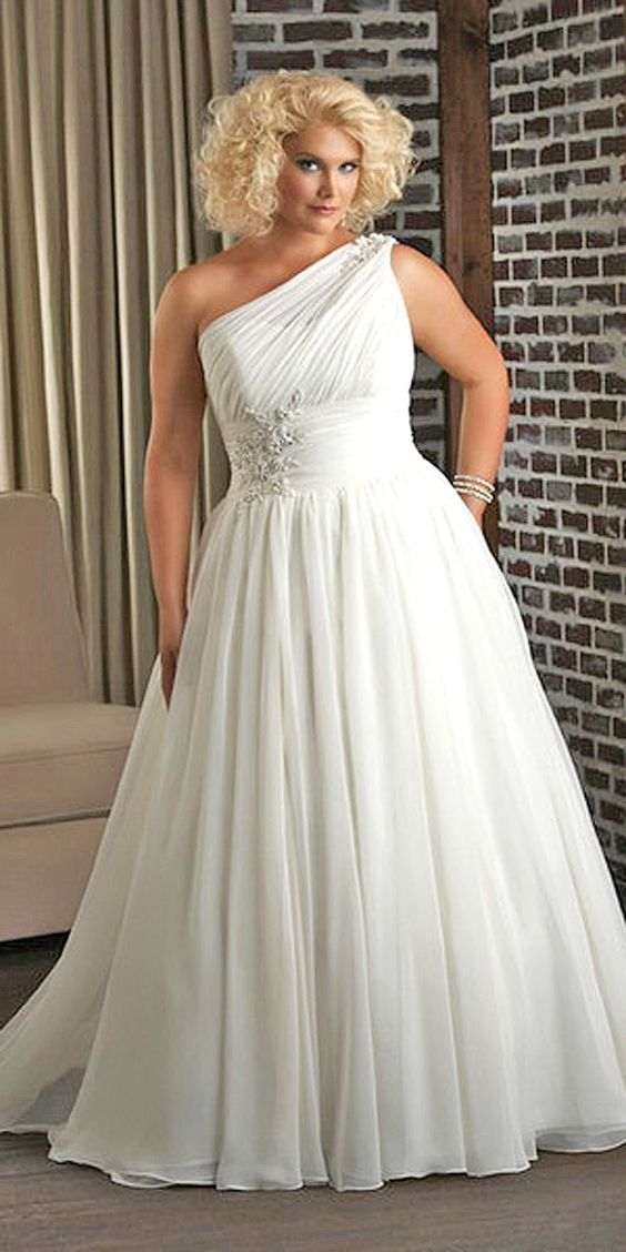 1f368fb66ad Plus-Size Wedding Dresses  A Jaw-Dropping Guide ❤ See more  http