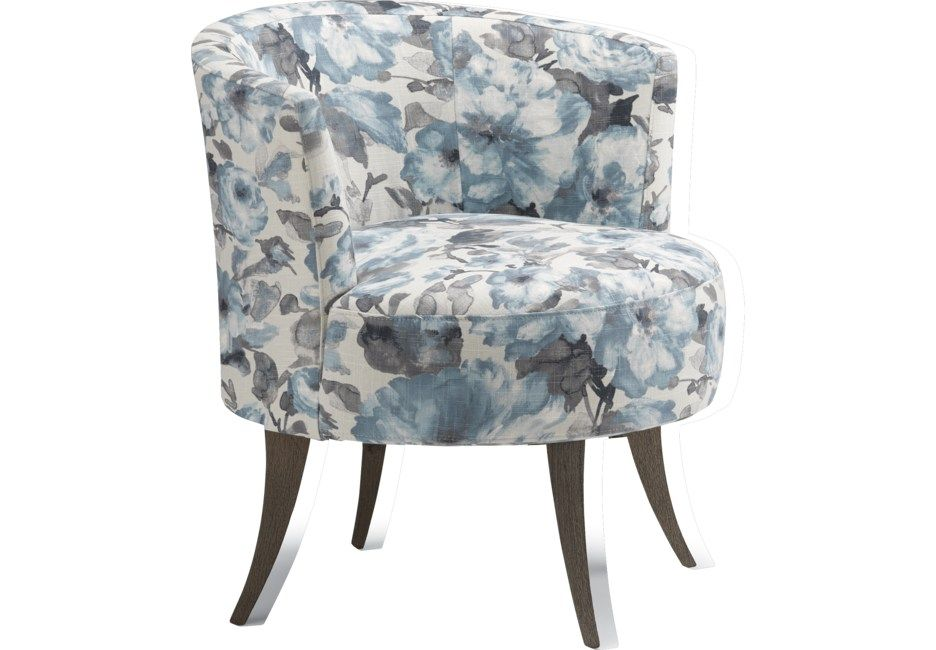 Best Stoneleigh Blue Swivel Accent Chair With Images Blue 400 x 300