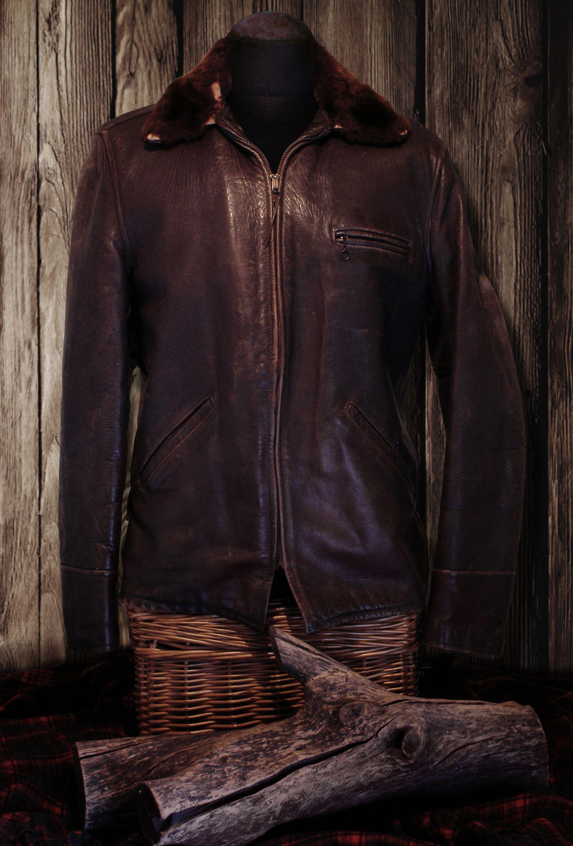 40s Goodgal horsehide/sheepskin Carcoat Leather jackets