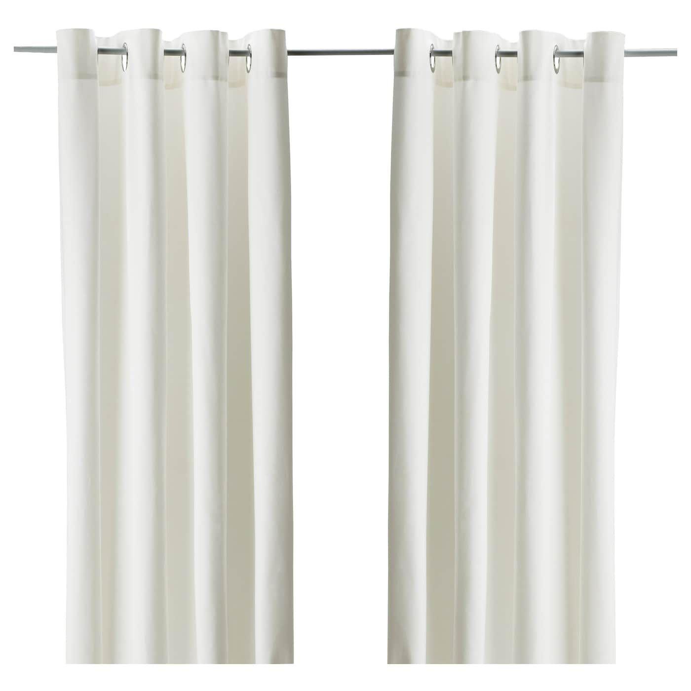 Ikea Merete Bleached White Room Darkening Curtains 1 Pair Room