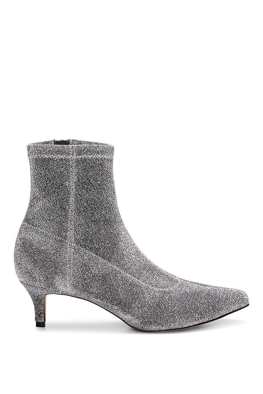 e3a114769b Sayres Bootie | Rebecca Minkoff, booties, booties shoes, booties ankle, booties  heels, sock bootie silver glitter