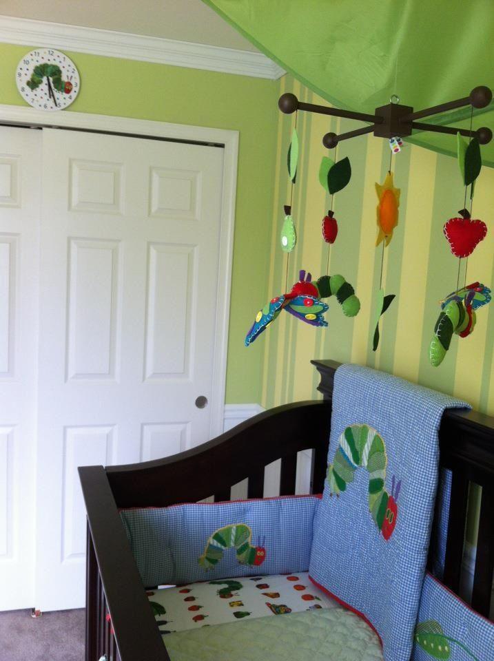 Very Hungry Caterpillar Nursery Clock Above Closet Bedding