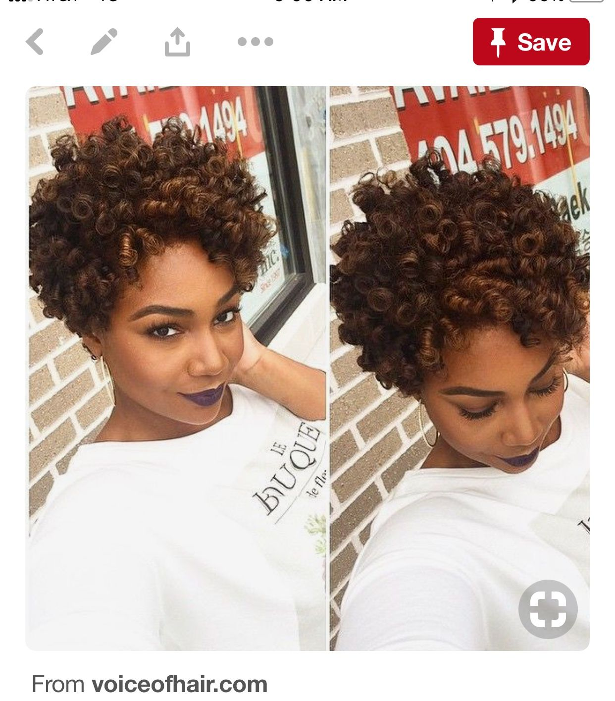 Short Crochet Hair Styles (With images) Short curly