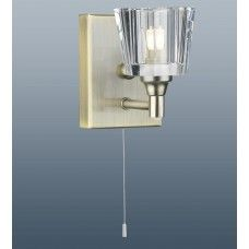 Single Bulb Square Wall Light Glass Lamp Shade Pull Cord 26 99switch Antique Brass In 2020 Pull Cord Wall Lights Wall Lights Glass Lamp Shade