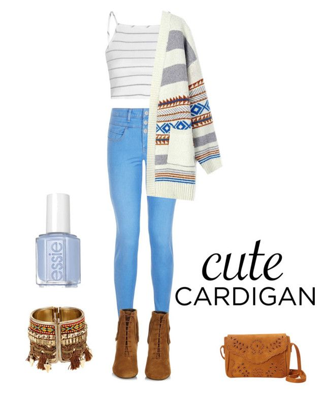 """cute cardigan"" by iliageorgopoulou ❤ liked on Polyvore featuring New Look, Glamorous, Yves Saint Laurent, cutecardigan and springlayers"