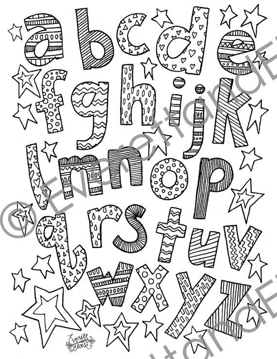 Digital Download Lowercase Letters Coloring by