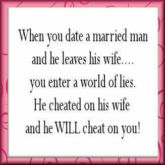 Dating a married man quote