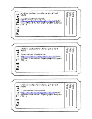 Exit+Ticket+Template+(Editable+PDF+Form)+from+Science+Teaching+ - admit one ticket template