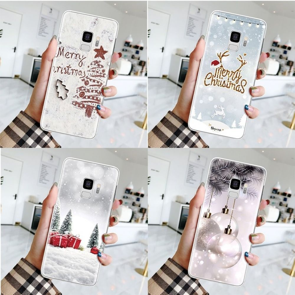 New Year Case For Samsung Galaxy J4 J6 A6 A8 Plus J8 A7 A9 2018 A3 A5 J3 J5 J7 Prime Christmas Silicone Cover Samsung Galaxy Mobile Case Cover