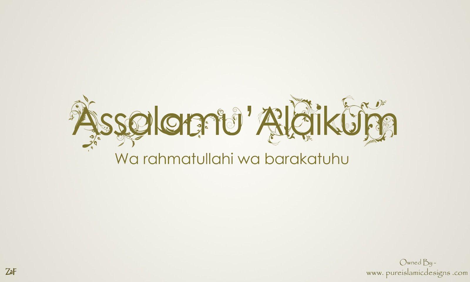 Free Download Assalamu Alaikum Islamic Wallpaper Pageresource