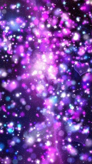 Purple galaxy heart wallpaper