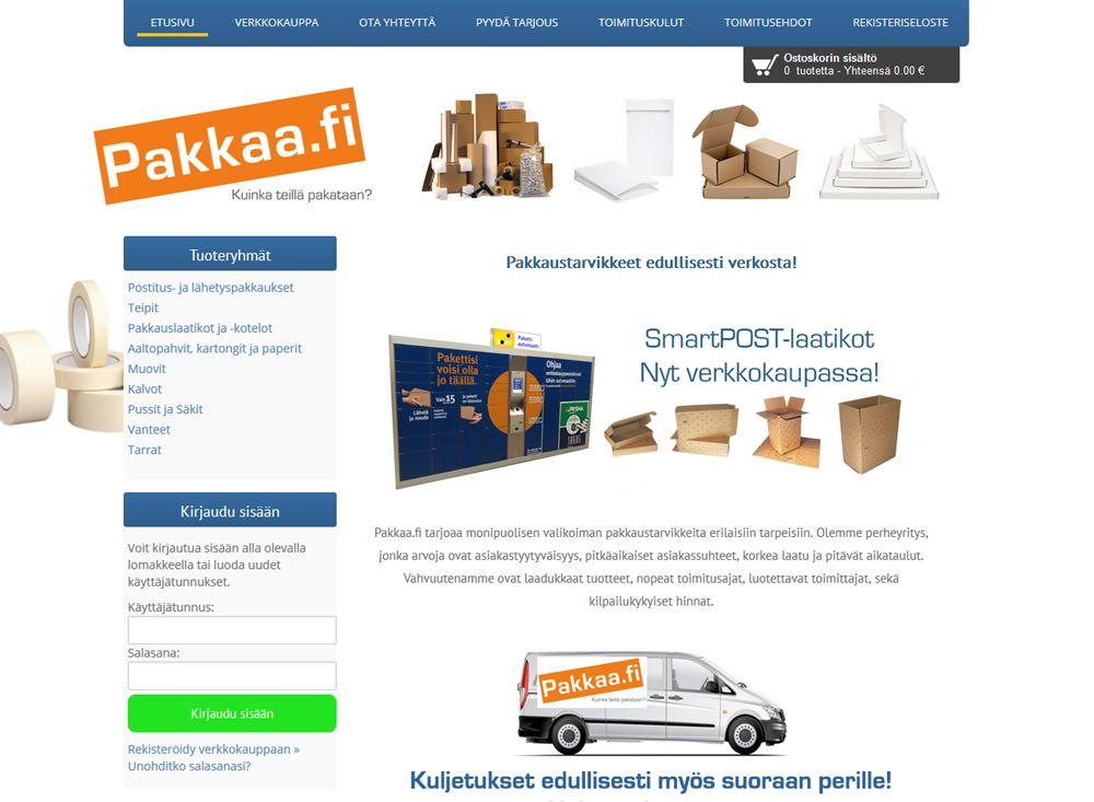 Pakkaa.fi verkkokauppa tarjoaa monipuolisen valikoiman pakkaustarvikkeita erilaisiin tarpeisiin.
