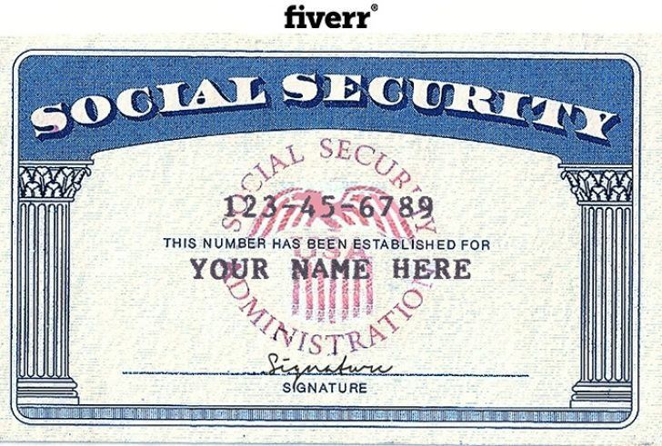 Blank Social Security Card Template Download Certificate Template Best Quality Templates Sampl Card Templates Free Report Card Template Social Security Card