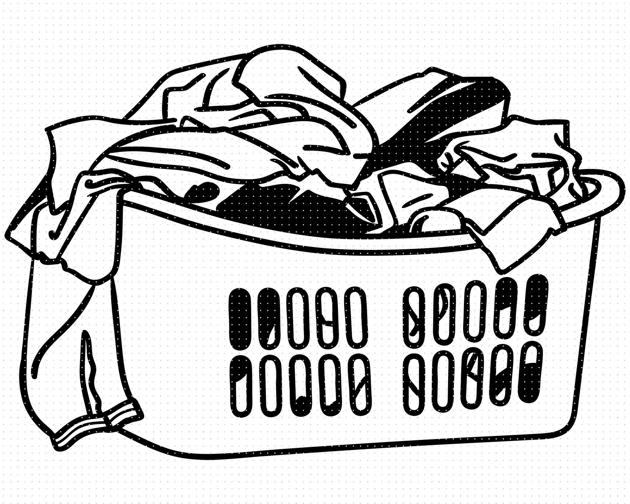 15+ Washing Clothes Clipart Black And White