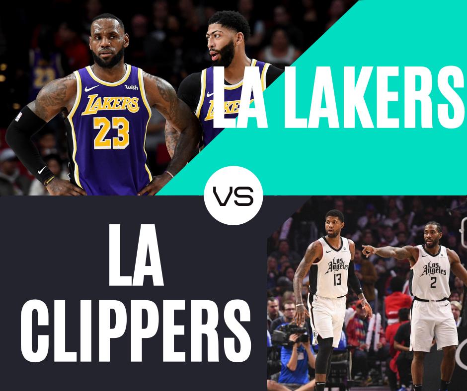La Lakers Vs La Clippers In 2020 Lakers Vs La Lakers Lakers Vs Clippers