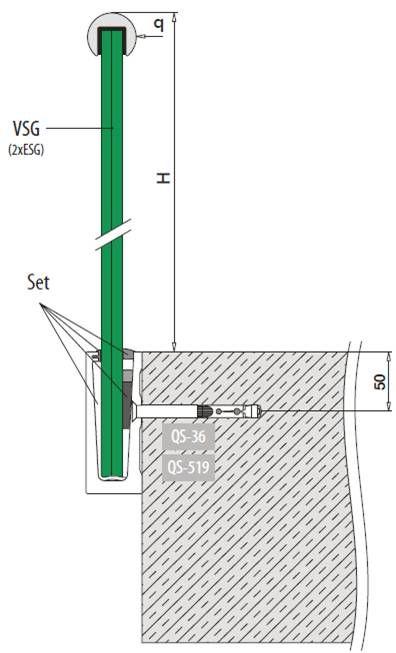 garde corps verre escalier en verre