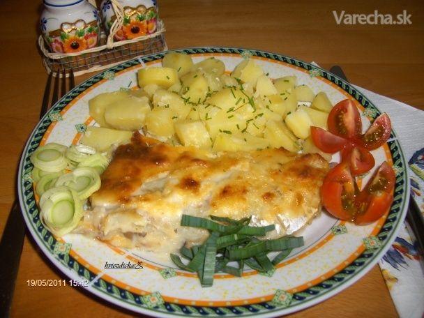 Aljašská treska so syrokrémom a šampiňónmi (fotorecept) - Recept