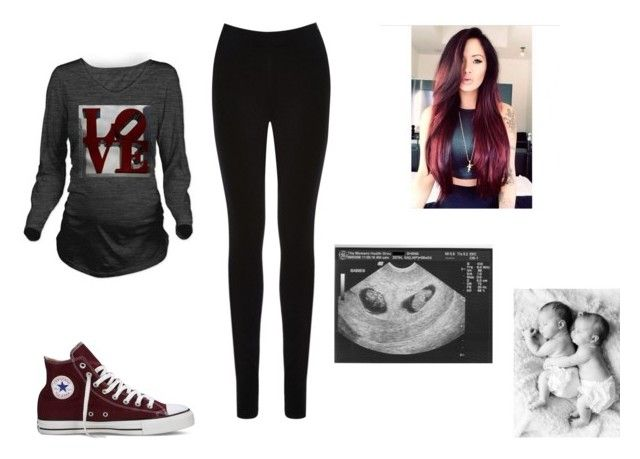 """""""Addie and Kyle are EXPECTING"""" by jade4life ❤ liked on Polyvore featuring Oasis and Converse"""