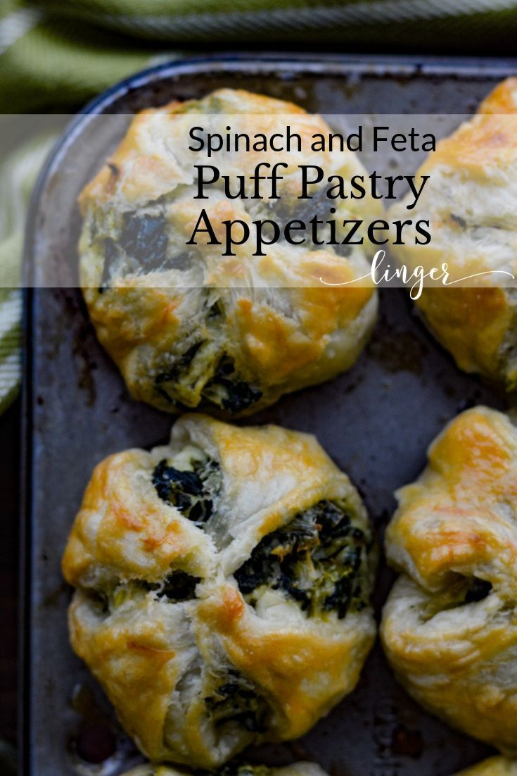 Feta and Spinach Puff Pastry Appetizers | Linger