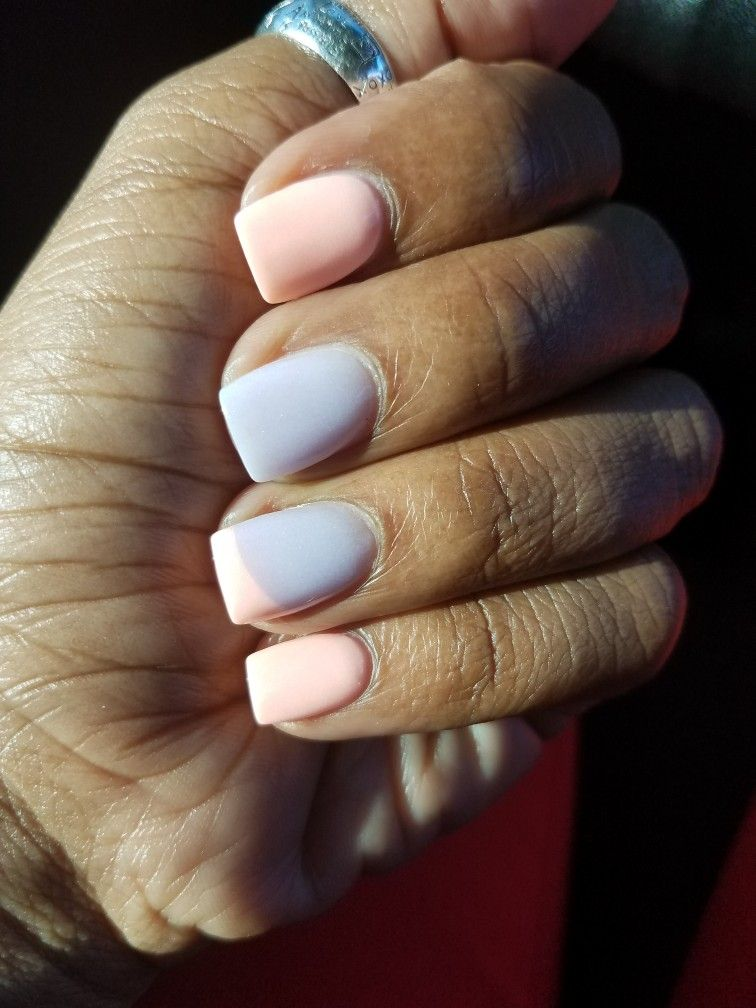 Preach and lilac next gen nails | nails | Pinterest