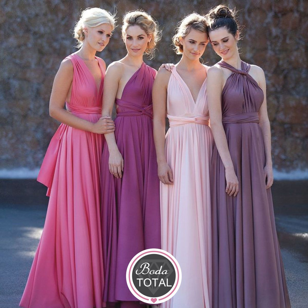 Goddess wrap dress - can be worn a number of ways | Bridesmaid ...