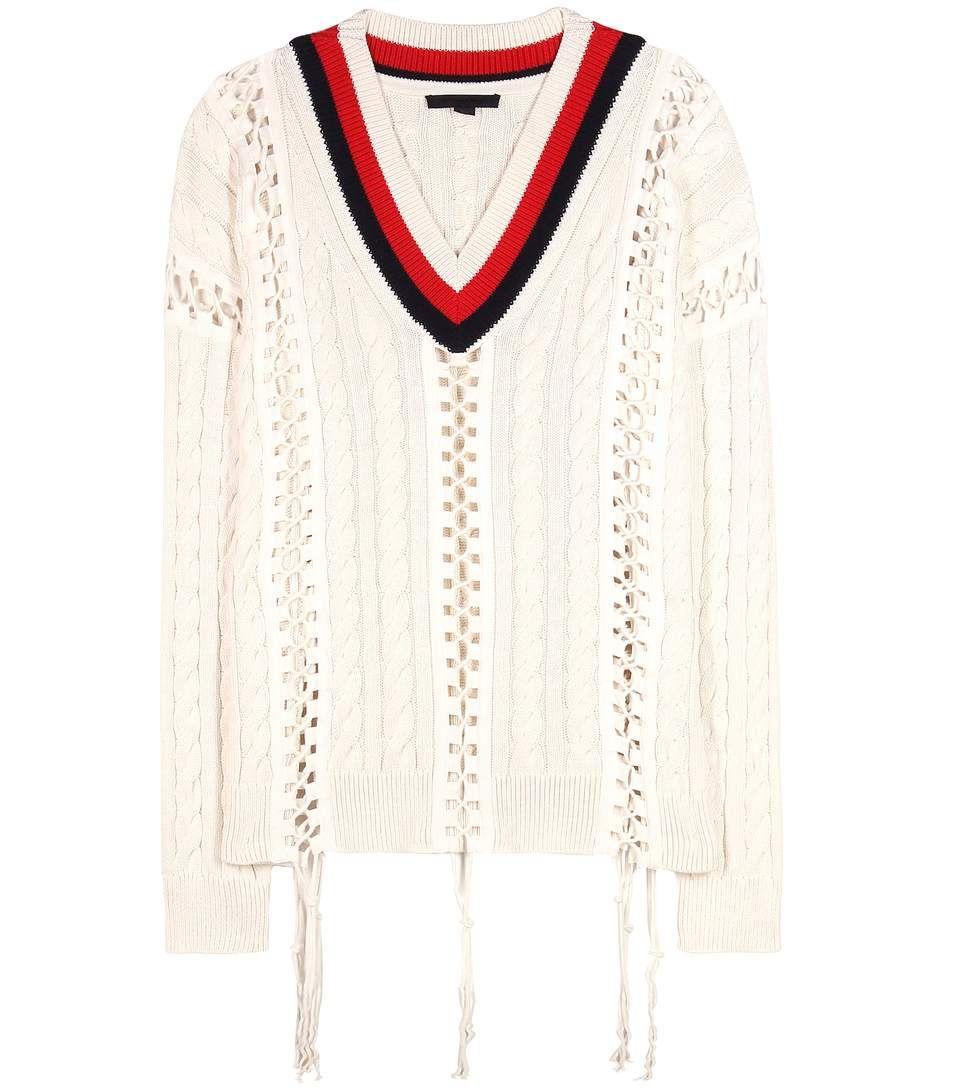 mytheresa.com - Embellished cotton sweater - Luxury Fashion for ...