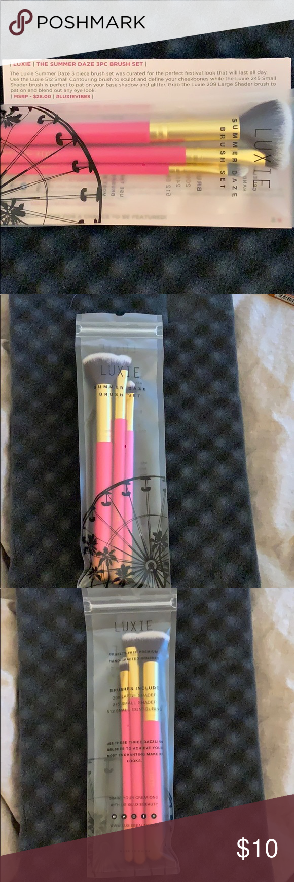 Luxie Summer Daze Brush Set Never opened or used! In