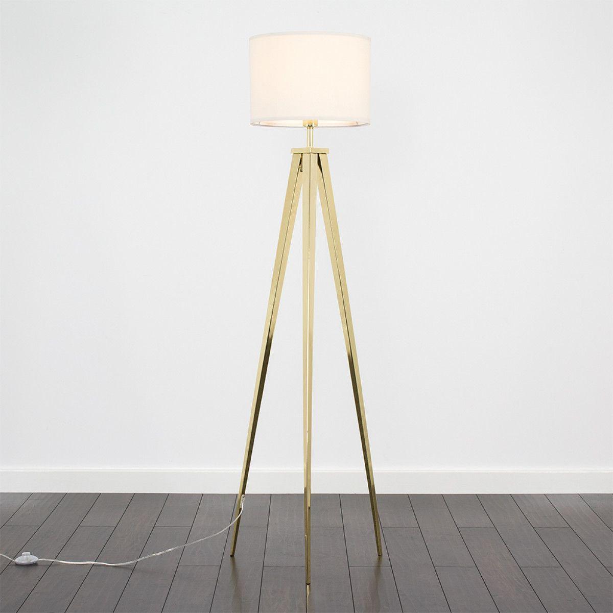 Nero Gold Tripod Floor Lamp Cream Shade Tripod Floor Lamps Floor Standing Lamps Gold Tripod Floor Lamp