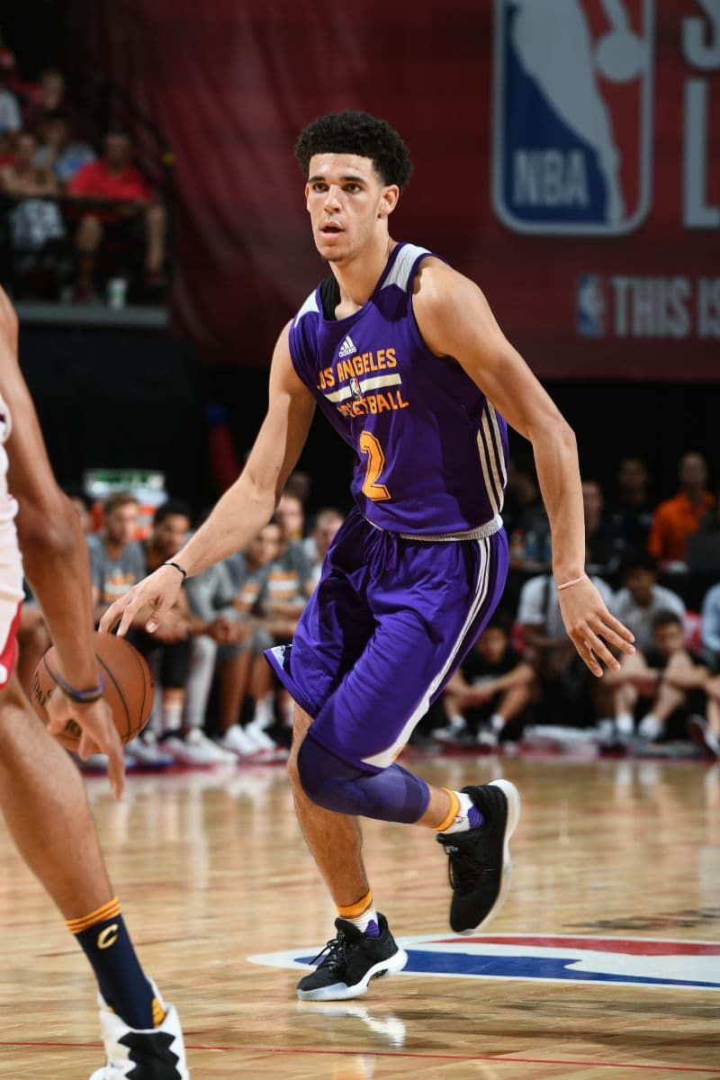 e3d8ba5430b9 Lonzo Ball Wearing the Adidas Harden LS in Summer League ...