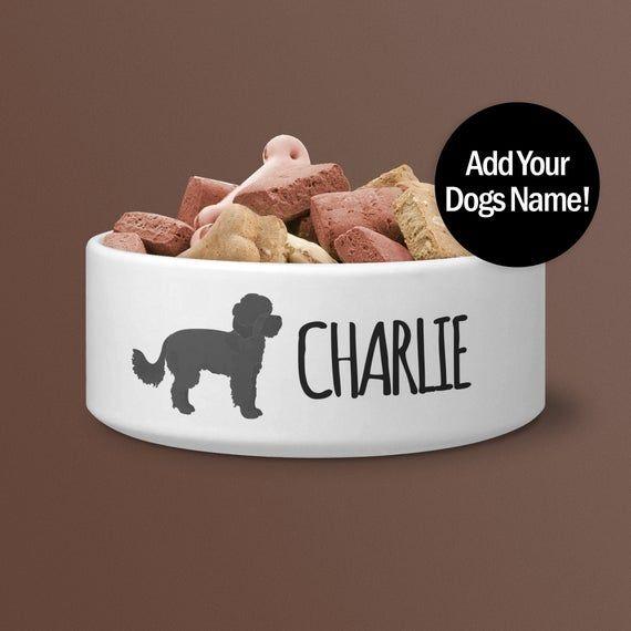 Maltipoo Personalised Dog Bowl Designer Dog Lover Gift Ceramic Food Or Water Bowl Hd Print Not Sticker In 2020 Dog Bowls Ceramic Dog Bowl Dog Lover Gifts