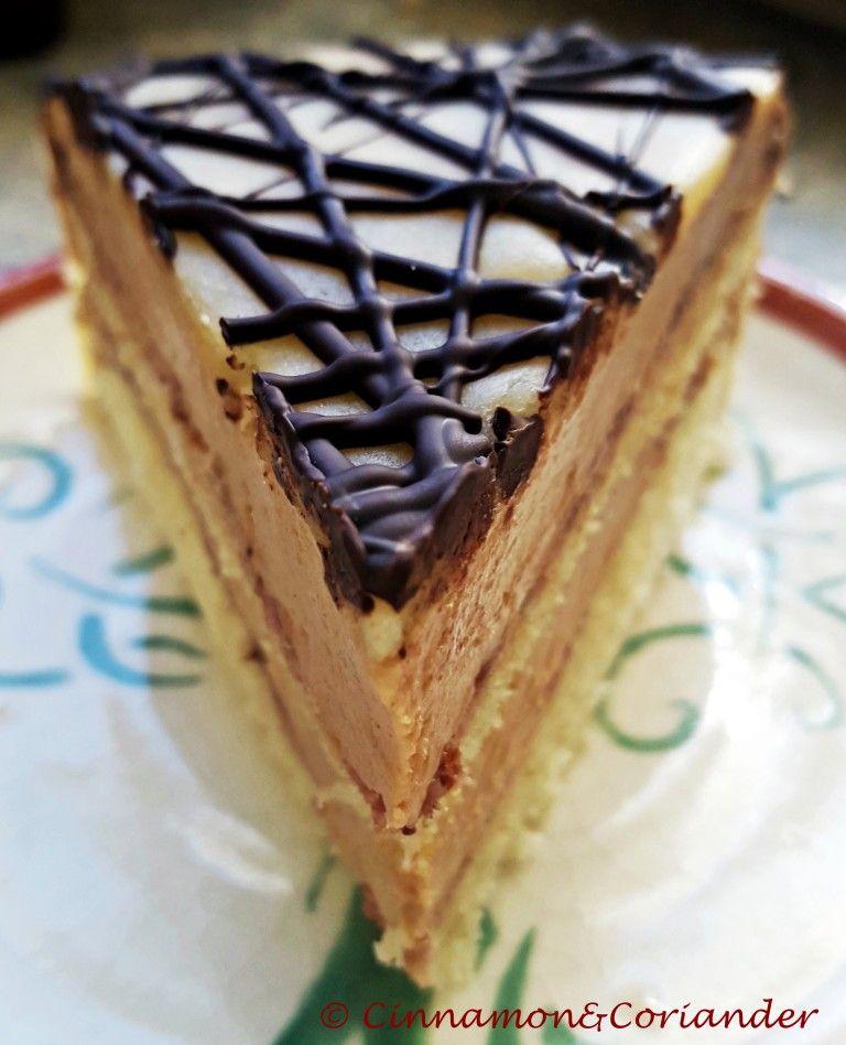 Nuss Nougat Torte Mit Marzipan Backen Torten Kuchen Geback