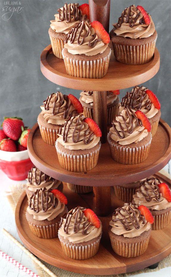 nutella cupcakes recette cupcake gla age nutella. Black Bedroom Furniture Sets. Home Design Ideas