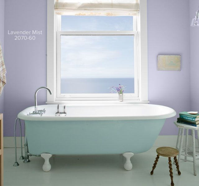 Color Overview | Light green bathrooms, Tubs and Benjamin moore