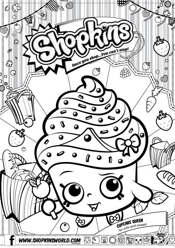 Shopkins Coloring Pages Season 1 Cupcake Queen Party - Shopkins - best of shopkins coloring pages snow crush
