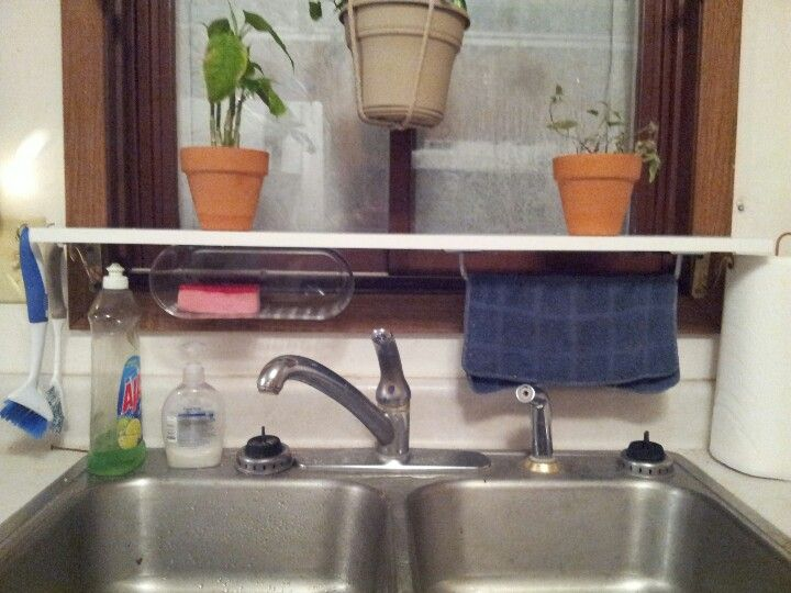 Diy over the sink utility shelf i made with supplies from menards diy over the sink utility shelf i made with supplies from menards for about 12 workwithnaturefo