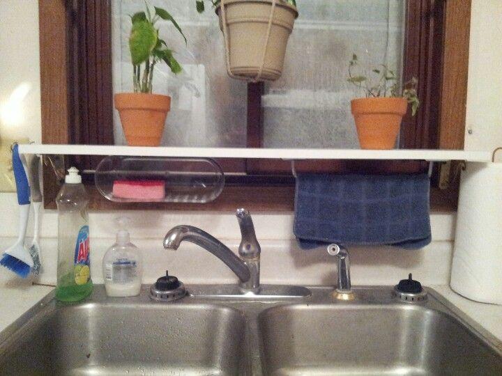 Plant Shelf Above Kitchen Sink