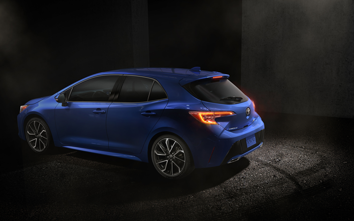 Download Wallpapers Toyota Corolla Hatchback 2019 4k Rear View