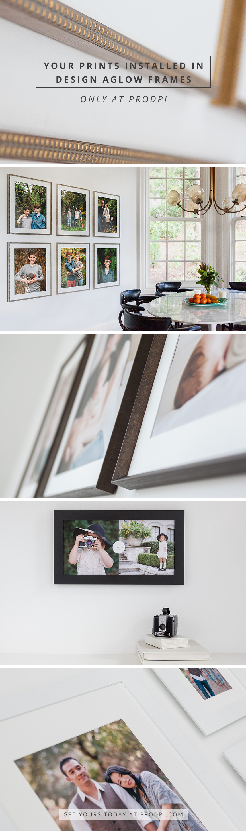 Your prints installed in Design Aglow frames, delivered straight to ...