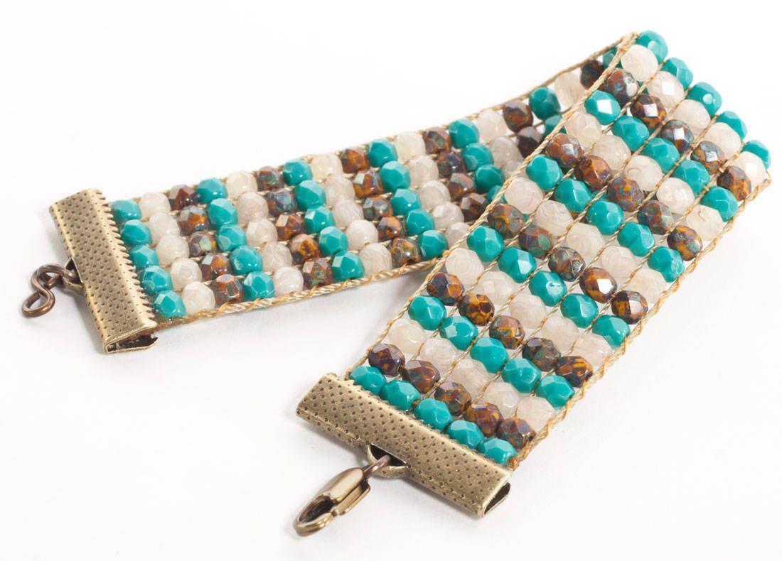 crystal bead loom bracelet tutorial schmuck selber. Black Bedroom Furniture Sets. Home Design Ideas