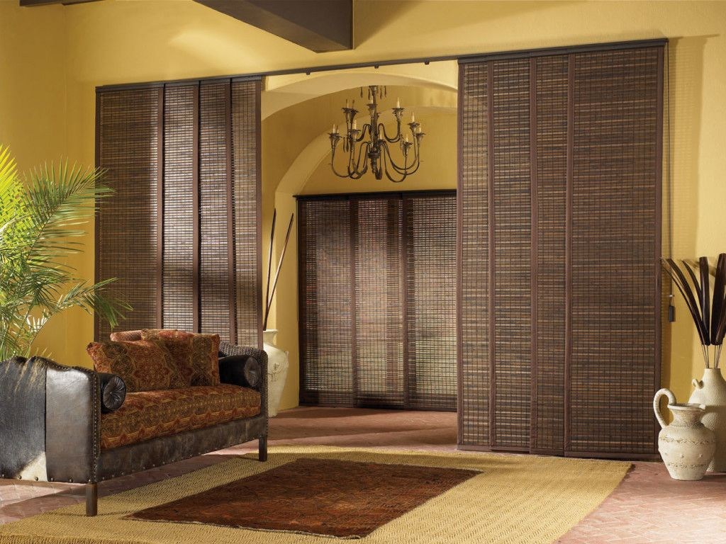 Furniture Surprising Interior Design For Your Home Decoration Using Yellow  Wall Along With Brown Bamboo Sliding Blind Panels And Reddish Wit.