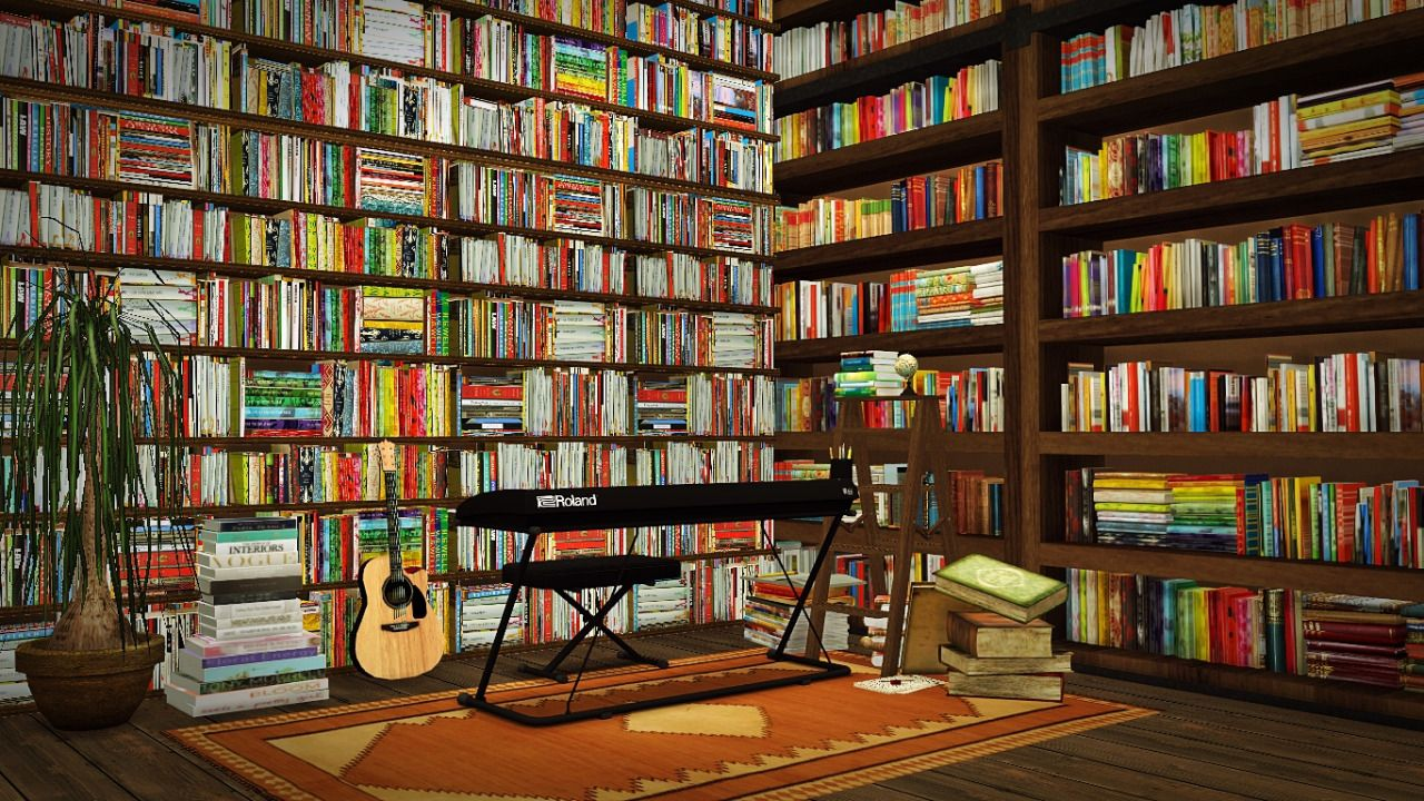 Lunasimss Bookshelf Its My Old Conversions And I Just Put Riekus13 Books Recolors 4 Meshes Bookshelves Including Very Low Height Medium High