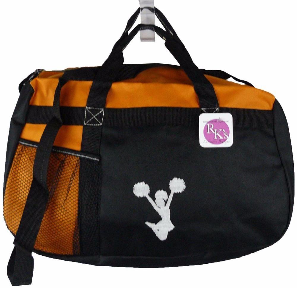 Cheerleader Silhouette Sequel Sport Duffel Coaching Team Bag + Name  Embroidered  Gemline 30c6c476c85e9