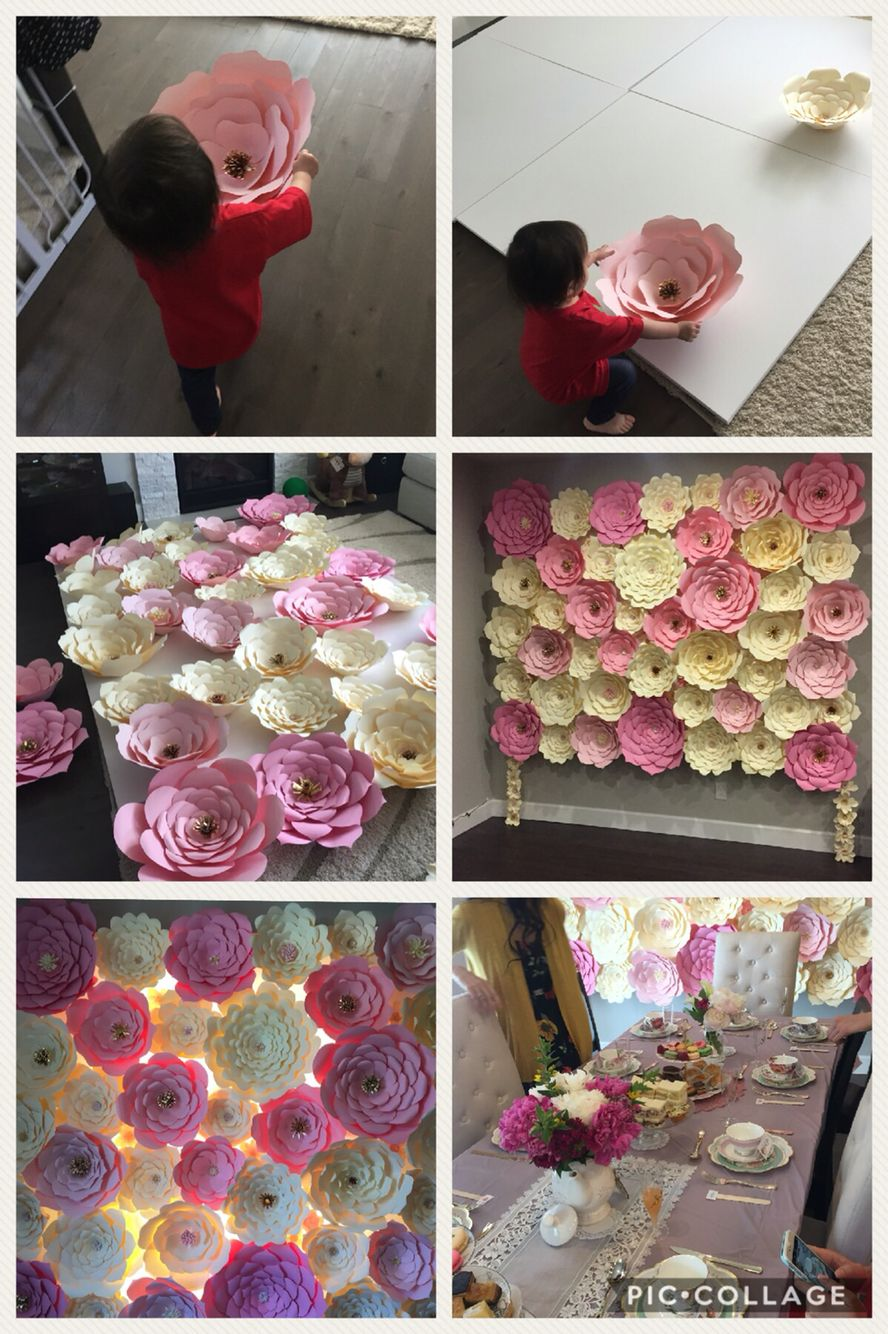 Paper Flower Wall Bridal Shower In 2018 Pinterest Flower