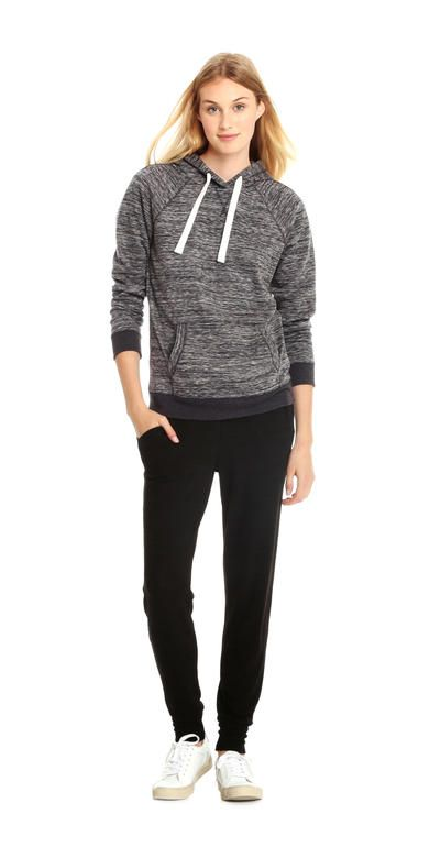 Space Dye Active Hoodie from Joe Fresh. Super soft fleece in space dye is a dream to wear to the gym and beyond.  Only $34.
