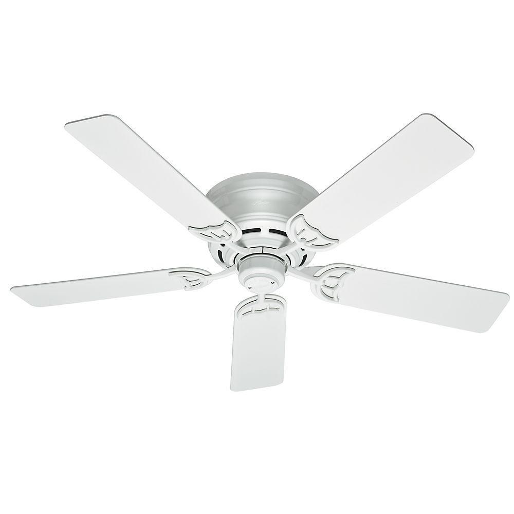 Hunter Low Profile III 52 in. White Indoor Ceiling Fan